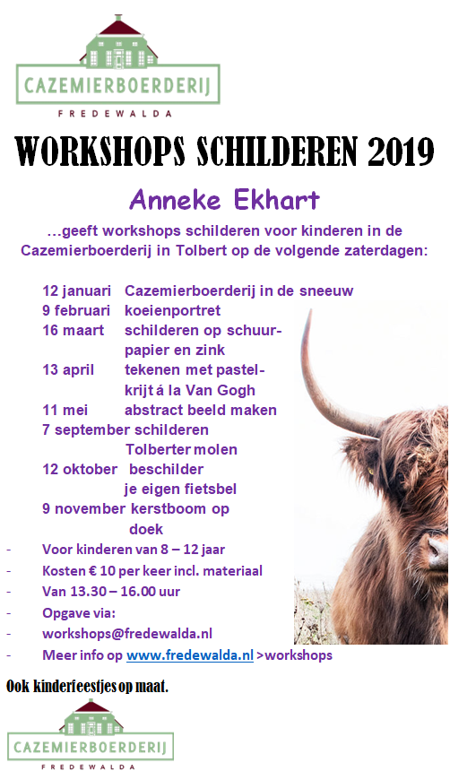 Poster Workshop Schilderen 2019